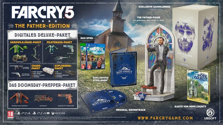 Xbox One - Far Cry 5 - Fathers Edition Fisico (Box) 785300128783 N. figura 1