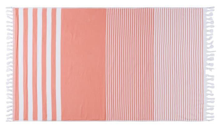 HELADIA Linge Hamam 450862822331 Couleur corail Dimensions L: 100.0 cm x P: 170.0 cm x H:  Photo no. 1