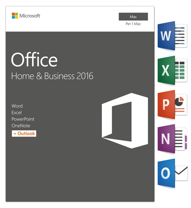 Mac - Office MAC 2016 Home and Business Microsoft 785300121060 Photo no. 1
