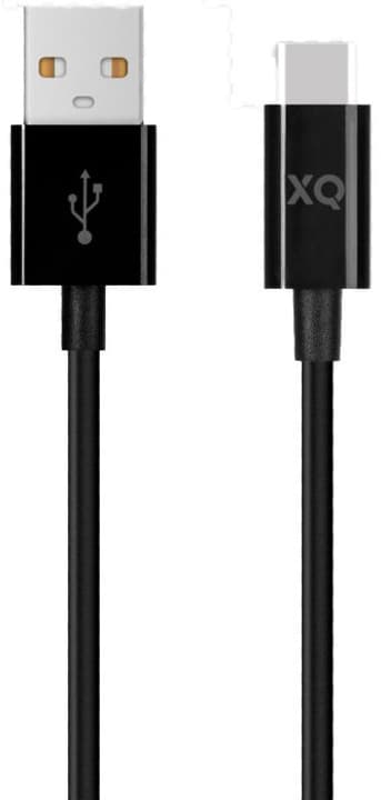 Charge & Sync Type C 3.0 to USB A 150cm Black Kabel XQISIT 798646400000 Bild Nr. 1