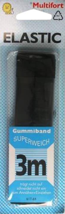 Elastico morbido nero 14mm x 3m Multifort 665423400000 N. figura 1