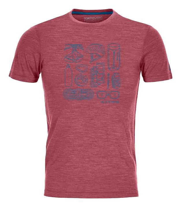 120 Tec Puzzle T-shirt à manches courtes pour homme Ortovox 465711800333 Couleur rouge foncé Taille S Photo no. 1