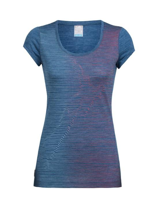 Sphere Cool Relief T-shirt à manches courtes pour femme Icebreaker 462783700547 Couleur denim Taille L Photo no. 1