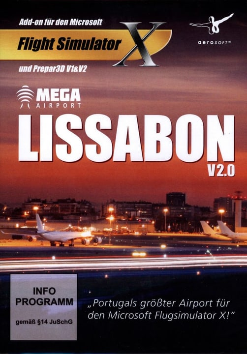 PC - Lissabon V2.0 Mega Airport (Add-on für FSX & Prepard3D) Fisico (Box) 785300127051 N. figura 1