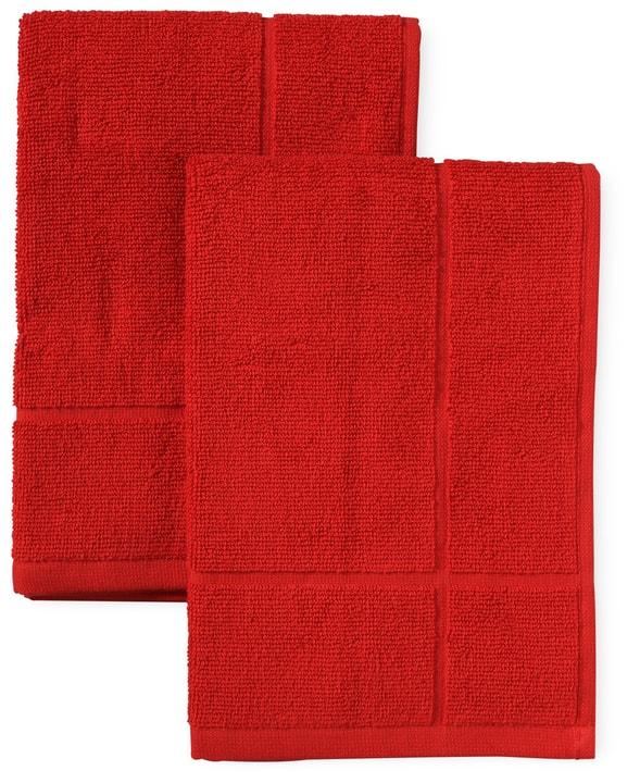 CUCINA & TAVOLA Set de torchon de cuisine éponge Cucina & Tavola 700349500030 Couleur Rouge Dimensions L: 50.0 cm x P:  x H:  Photo no. 1
