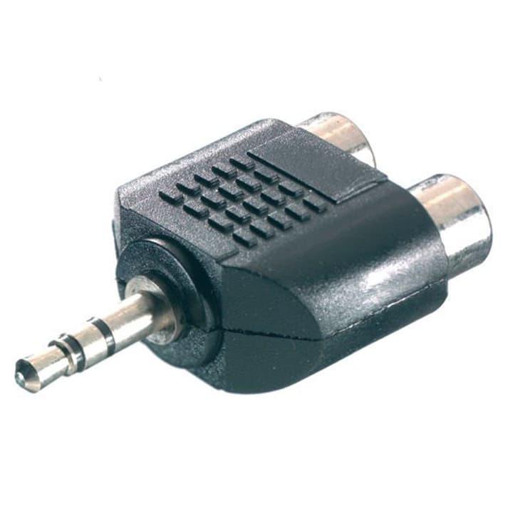 Adapter 1x 3.5mm Klinke / 2x Cinch Audio Adapter Vivanco 770784400000 Bild Nr. 1