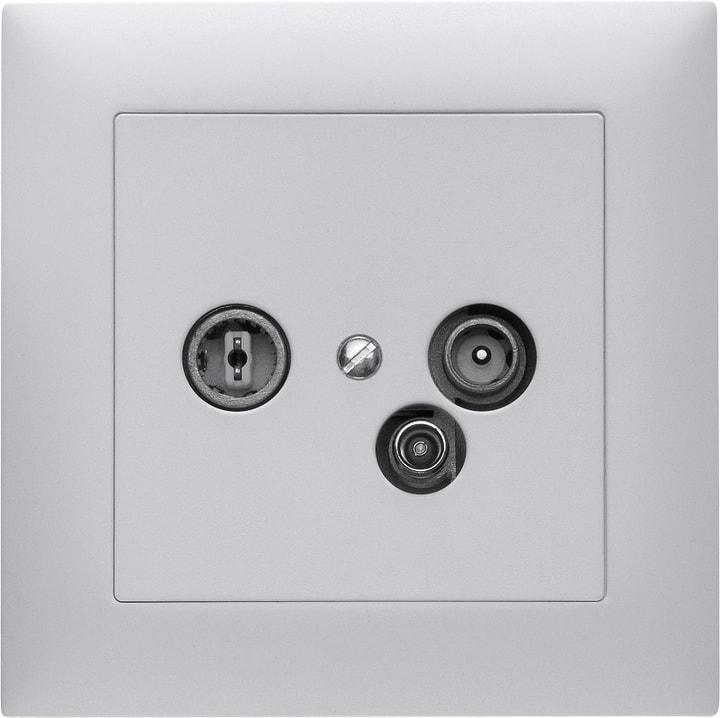 Edizio Due Antennen-Steckdose Radio/TV/Daten Feller 612008300000 Bild Nr. 1