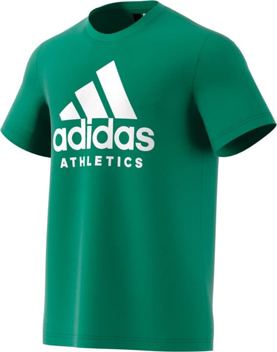 Sid Breanded Tee T-shirt pour homme Adidas 462377700560 Couleur vert Taille L Photo no. 1