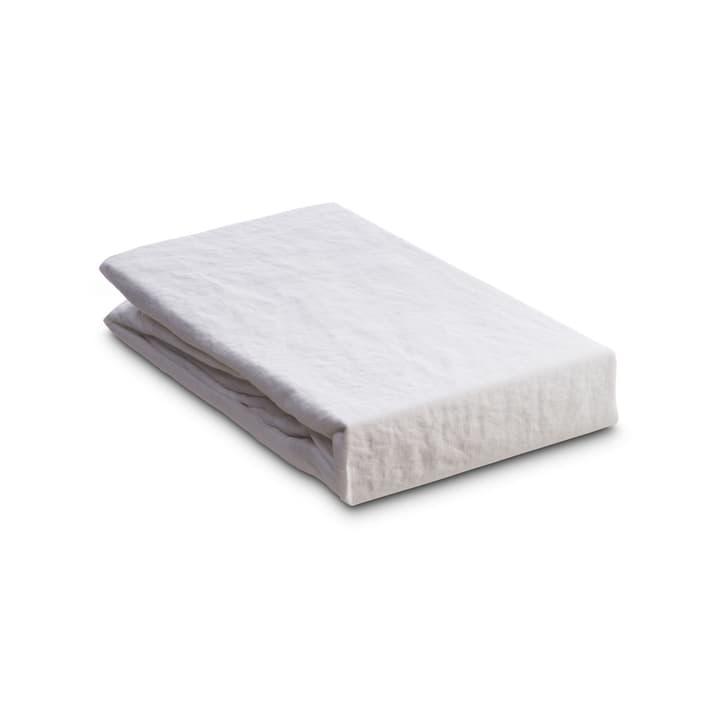 LINEN Drap-housse 376005635603 Couleur Blanc Dimensions L: 200.0 cm x L: 180.0 cm Photo no. 1