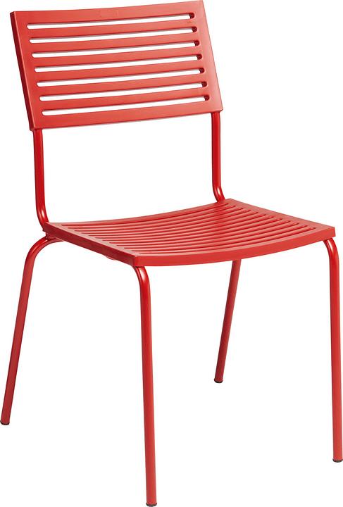 LAMELLO Sedia Schaffner 408010300030 Dimensioni L: 54.0 cm x P: 58.0 cm x A: 87.0 cm Colore Rosso N. figura 1
