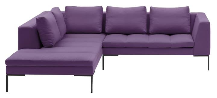 BADER Canapé d'angle 405686450523 Dimensions L: 255.0 cm x P: 230.0 cm x H: 80.0 cm Couleur Violet Photo no. 1