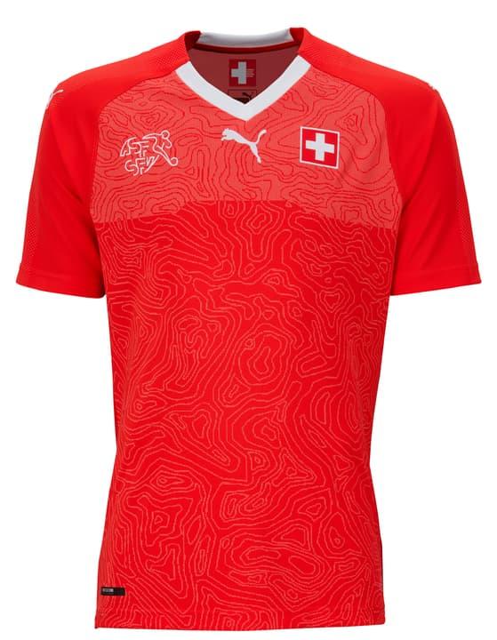 SUISSE Kids Home Replica Shirt Maglietta della nazionale di calcio svizzera per bambini, Riproduzione Puma 464520214030 Colore rosso Taglie 140 N. figura 1