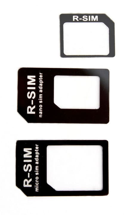 Adattatore Nano + Micro SIM nero Connettore XQISIT 798055600000 N. figura 1
