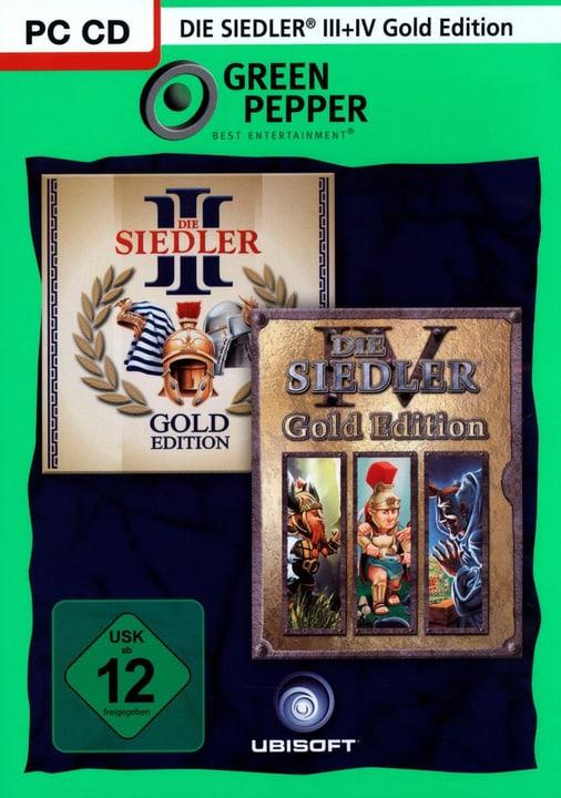 PC - Green Pepper: Die Siedler 3 Gold + Die Siedler 4 Gold Physique (Box) 785300121650 Photo no. 1
