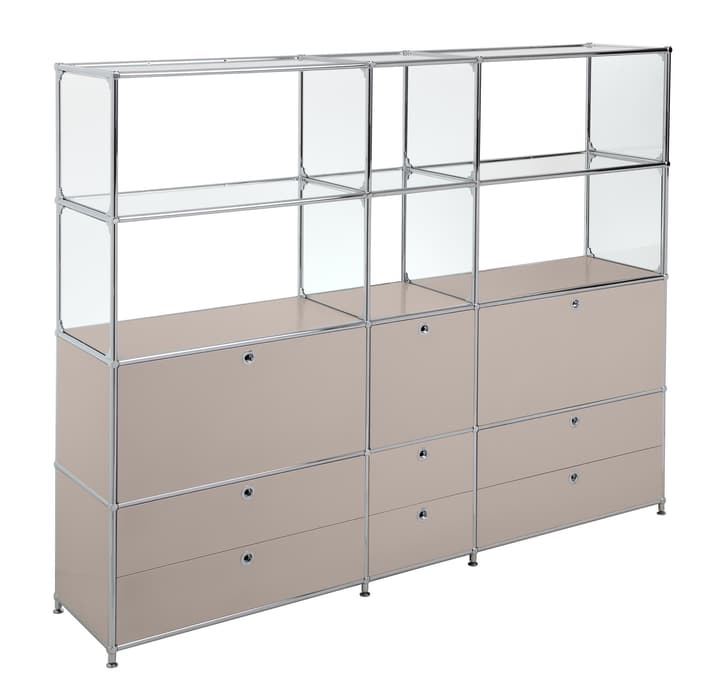 FLEXCUBE Etagère 401815320488 Dimensions L: 189.0 cm x P: 40.0 cm x H: 155.5 cm Couleur Gris taupe Photo no. 1