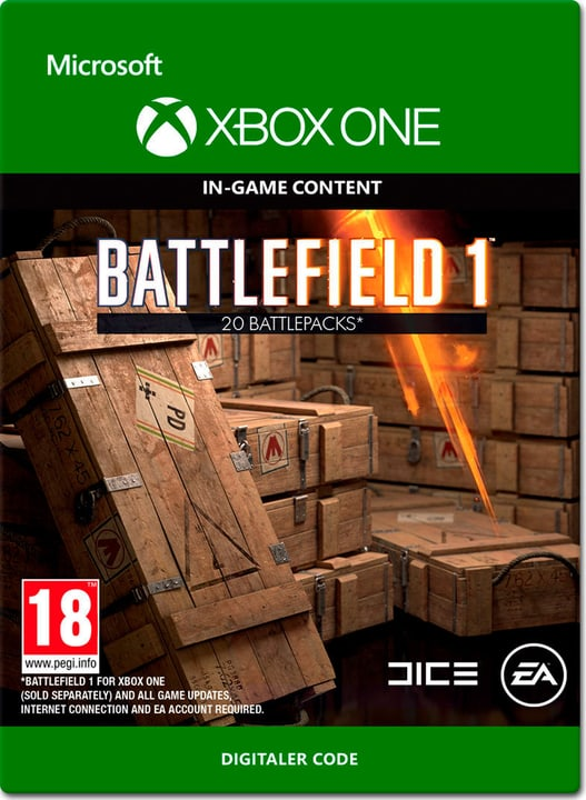Xbox One - Battlefield 1: Battlepacks x20 Download (ESD) 785300137304 Photo no. 1