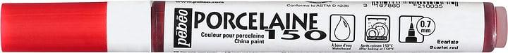 Feutre Fin Porcelain Pebeo 663659900000 Colore Scarlatto N. figura 1