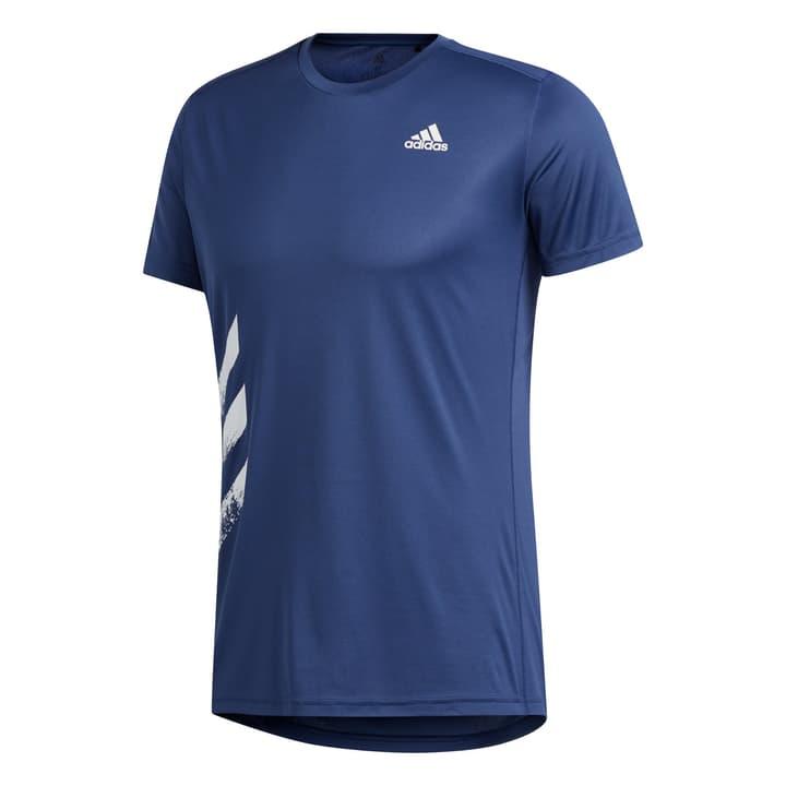 Run It Tee Shirt pour homme Adidas 470409700322 Couleur bleu foncé Taille S Photo no. 1