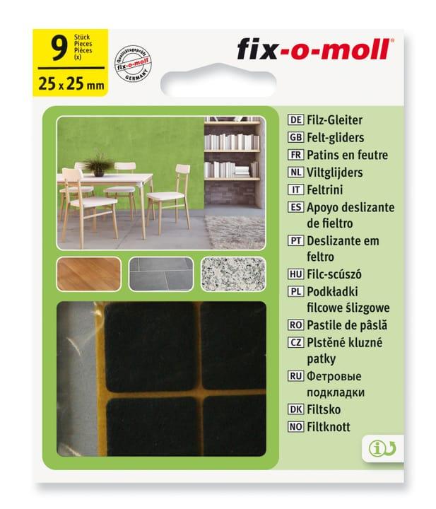 Piedini in feltro 3 mm / 25 x 25 mm 9 x Fix-O-Moll 607068500000 N. figura 1