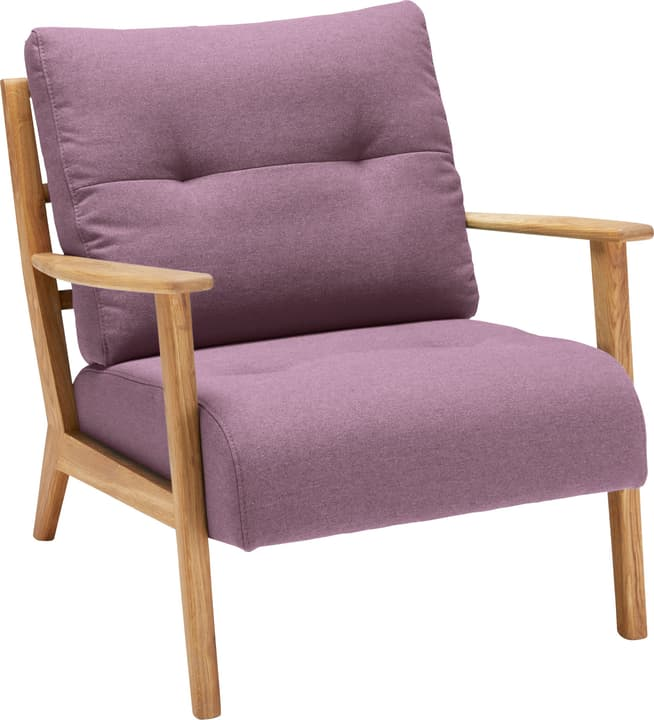 FAUST Sessel (Lusia) 402465200138 Grösse B: 83.0 cm x T: 76.0 cm x H: 80.0 cm Farbe Rosa Bild Nr. 1