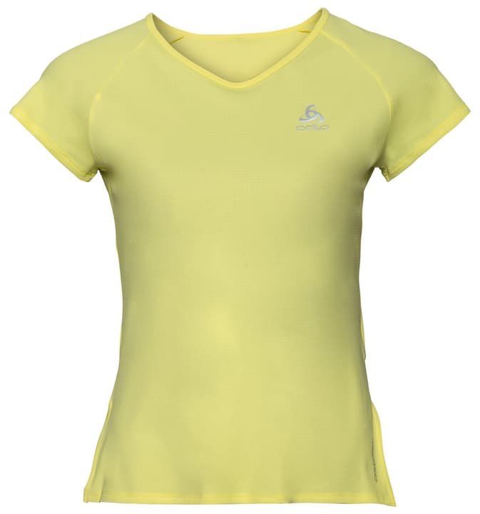 Ceramicool BL Top Crew neck s/s Damen-T-Shirt Odlo 470182100351 Farbe Hellgelb Grösse S Bild-Nr. 1