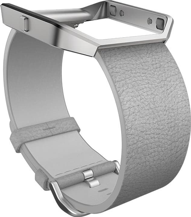 Blaze Bracelet en cuir Gris Large Fitbit 785300131199 Photo no. 1