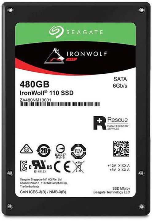 "SSD IronWolf 110 2.5"" 480 GB Disque Dur Interne SSD Seagate 785300145872 Photo no. 1"