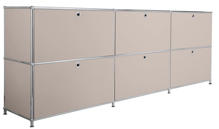 FLEXCUBE Buffet 401809700088 Dimensions L: 227.0 cm x P: 40.0 cm x H: 80.5 cm Couleur Gris taupe Photo no. 1
