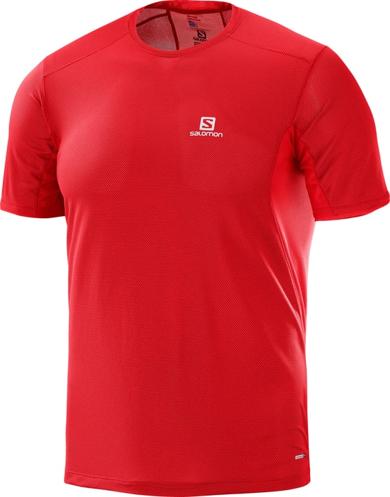 TRAIL RUNNER SS TEE M Shirt pour homme Salomon 470147000430 Couleur rouge Taille M Photo no. 1