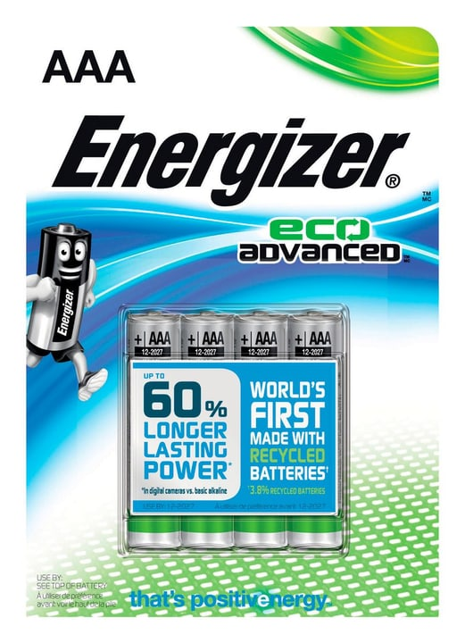 Eco advanced AAA (4Stk.) Batterie Energizer 704756200000 Bild Nr. 1