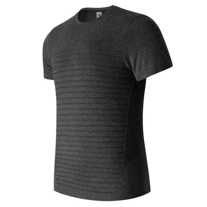 M4M Seamless SS Top Shirt de course à pied pour homme New Balance 470108000380 Couleur gris Taille S Photo no. 1