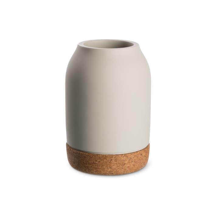 KORK Vase 396121300000 Grösse B: 10.0 cm x T: 10.0 cm x H: 14.3 cm Farbe Hellgrau Bild Nr. 1