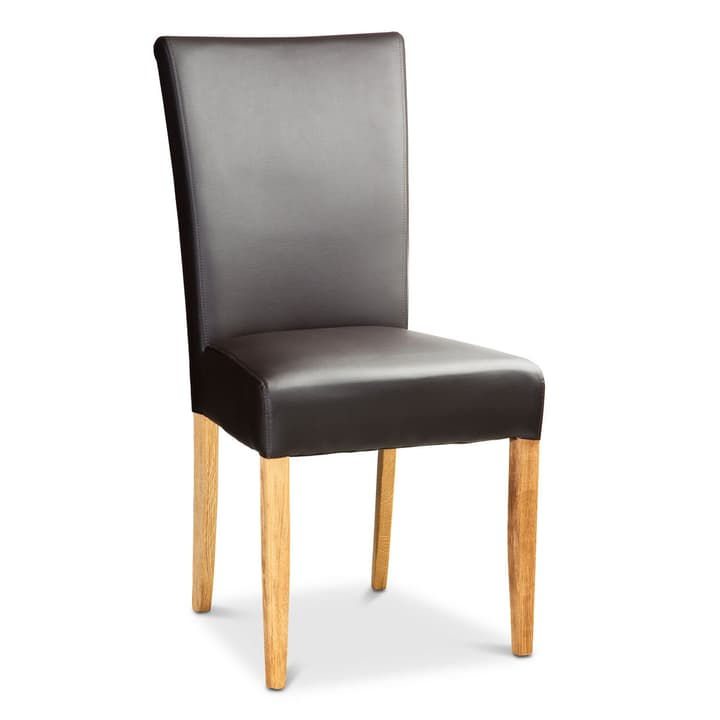 GIANNI chaise en similicuir 366031200000 Dimensions L: 47.0 cm x P: 60.0 cm x H: 93.0 cm Couleur Brun foncé Photo no. 1