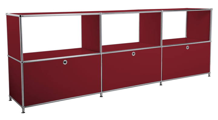 FLEXCUBE Sideboard 401814630230 Grösse B: 227.0 cm x T: 40.0 cm x H: 80.5 cm Farbe Rot Bild Nr. 1