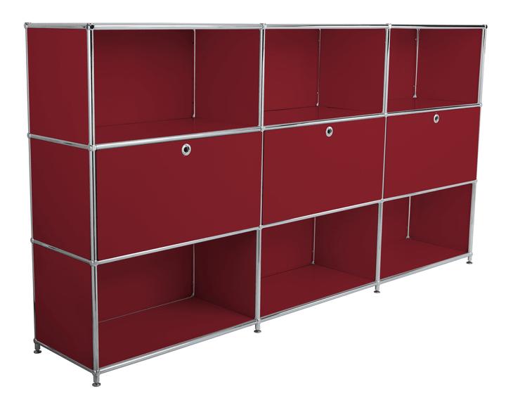 FLEXCUBE Highboard 401809800030 Grösse B: 227.0 cm x T: 40.0 cm x H: 118.0 cm Farbe Rot Bild Nr. 1