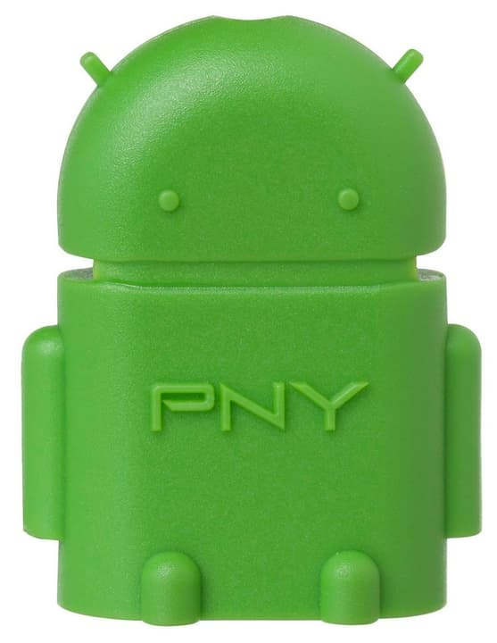 OTG Robot Adapter MicroUSB Typ B verde Adaptateur PNY Technologies 785300126353 Photo no. 1