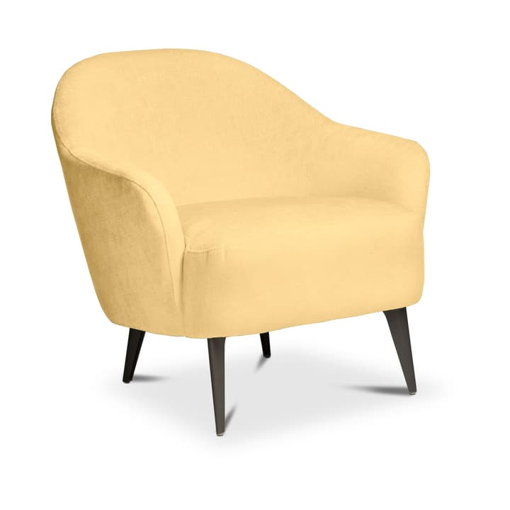 VINNIE Fauteuil 360053864504 Dimensions L: 73.0 cm x P: 76.0 cm x H: 72.0 cm Couleur Jaune clair Photo no. 1