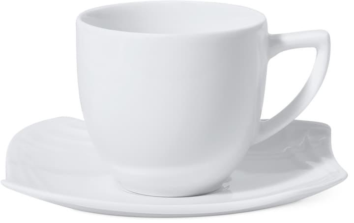VANITY Tasse à caffé avec sous-tasse Cucina & Tavola 700158900005 Couleur Blanc Dimensions L: 13.4 cm x H: 9.3 cm Photo no. 1