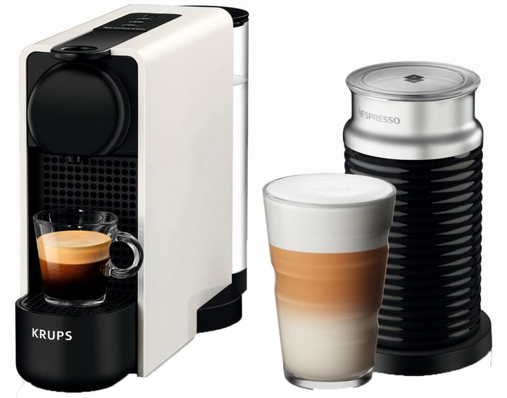 Essenza Plus & Aeroccino Weiss XN5111 Kapselmaschine Nespresso 71800140000019 Bild Nr. 1