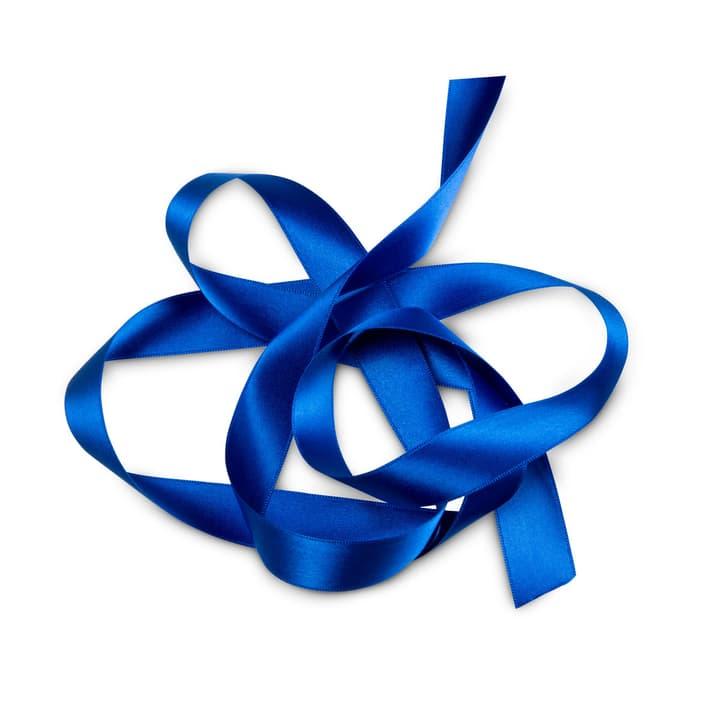 KIKILO Satinband 10m/25mm 386112800000 Farbe Blau Grösse B: 1000.0 cm x T: 2.5 cm x H: 0.1 cm Bild Nr. 1