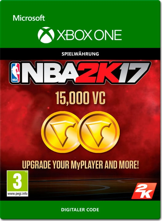 Xbox One - NBA 2K17: 15'000 VC Download (ESD) 785300137382 N. figura 1