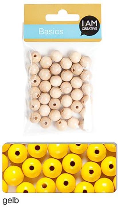 Perla di legna 8mm I AM CREATIVE 665555400020 Colore Giallo N. figura 1