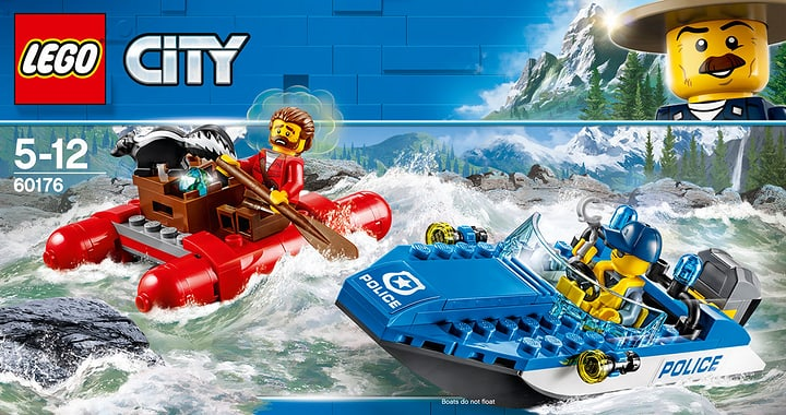 Lego City 60176 Fuga Sul Fiume 748861300000 N. figura 1