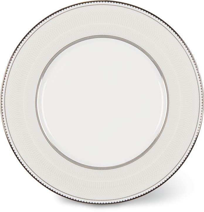 NOBLESSE Dessertteller Cucina & Tavola 700160400004 Farbe Weiss / Silber Grösse H: 1.0 cm Bild Nr. 1