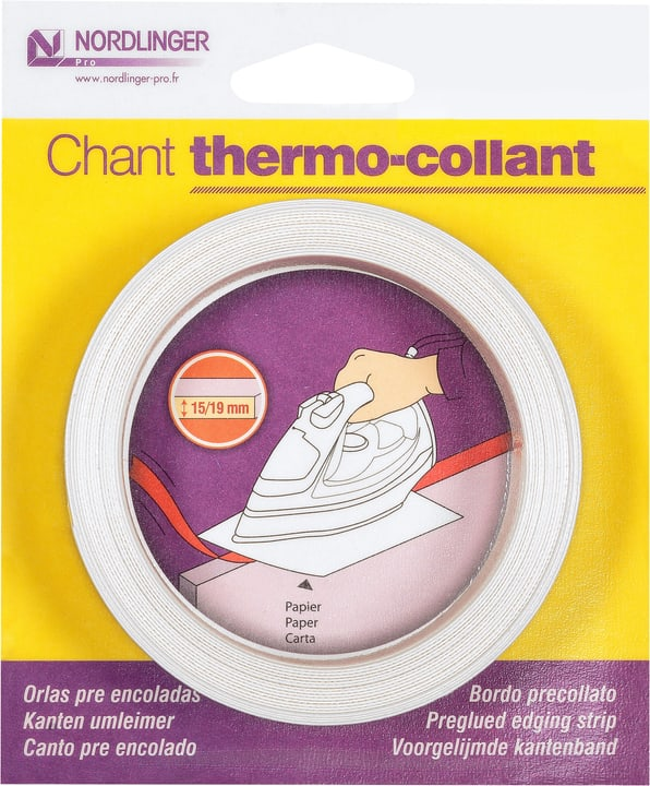 Chant mélaminé thermo-collant 5 m, Décor: blanc mat K101SM 640112600000 Photo no. 1