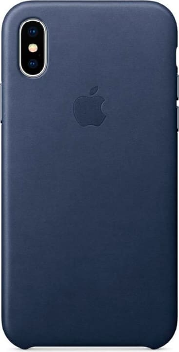 Leather Case iPhone X Midnight Blue Hülle Apple 785300130118 Bild Nr. 1