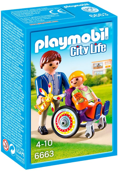 PLAYMOBIL City Life Bimbo ingessato con papà 6663 746050700000 N. figura 1