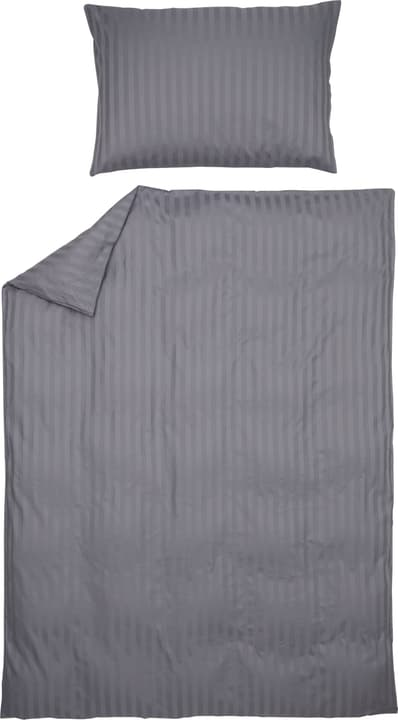 MANUEL Satin-Kissenbezug 451308310680 Farbe Grau Grösse B: 65.0 cm x H: 65.0 cm Bild Nr. 1