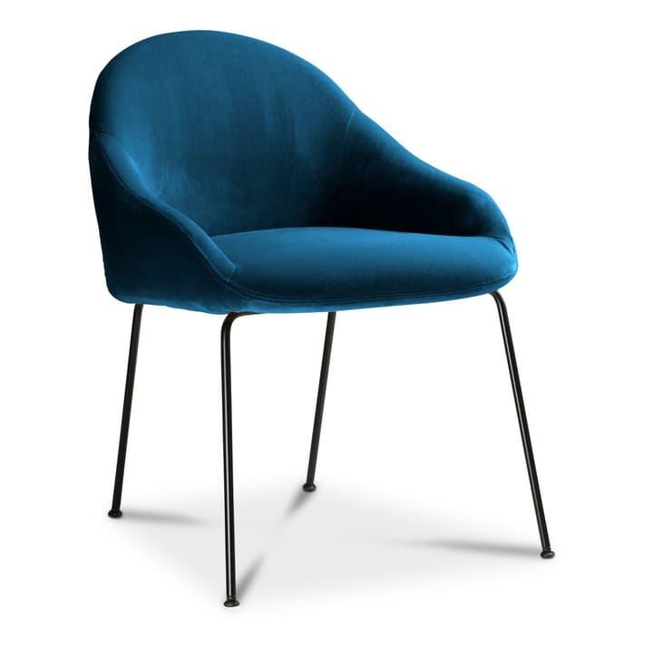 EARL Chaise 366028015005 Dimensions L: 58.0 cm x P: 65.0 cm x H: 76.0 cm Couleur Bleu Photo no. 1