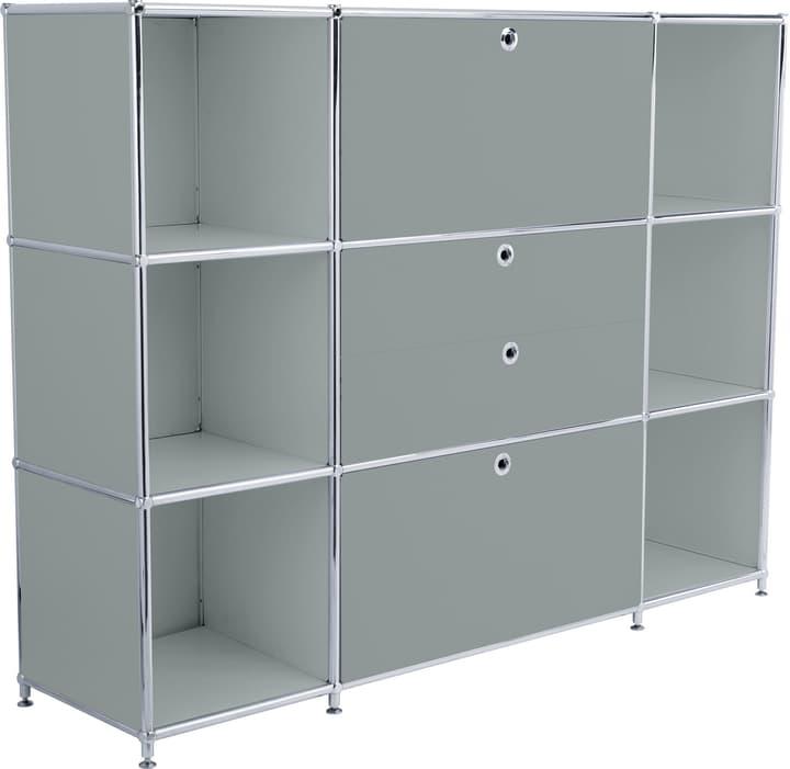 FLEXCUBE Highboard 401809400080 Grösse B: 152.0 cm x T: 40.0 cm x H: 118.0 cm Farbe Grau Bild Nr. 1